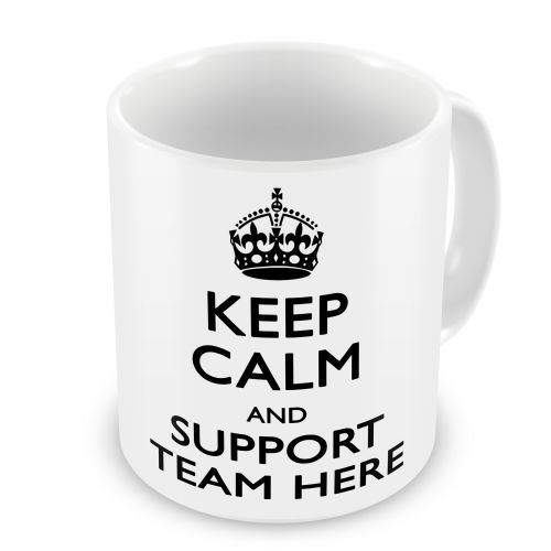 Personalised Keep Calm And Support Any Team Novelty Gift Mug